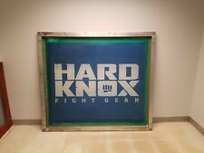 Huge Hard Knox martial arts fight gear art sign screen printing frame poster Mma