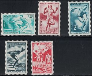 Monaco SC204-208 Monaco'sPartic.Of1948OlympicGames/1/2Set-(H)1948