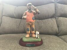 Flambro Emmett Kelly Jr. 'Hunter' With Wooden Base & Box