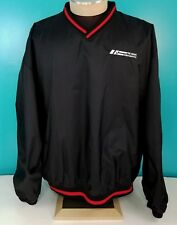 Champion Men's The Braun Corporation Black/Red Pullover Windbreaker Jacket Sz XL
