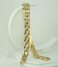 "18K Gold Plated 8"" Riccio Bracelet - LIFETIME WARRANTY"