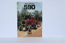Massey Ferguson 590 tractor brochure leaflet late model from 1981