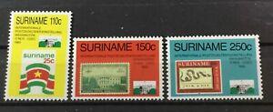 SURINAME SURINAM # 849-851. WORLD STAMP EXPO '89 & 20th UPU  CONGRESS.  MNH