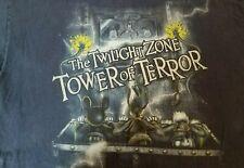 Disneyland DisneyWorld adult XL Hanes Tee Mickey Donald Goofy on Tower of Terror