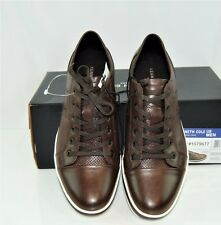 Kenneth Cole Men's Leather Fashion SNEAKERS Brown Casual Shoes Size 12 001