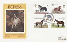 (90706) GB philart FDC Cavalli-Shetland Pony Stud BOOK haroldswick 5 LUGLIO 1978