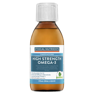 Ethical Nutrients High Strength Omega-3 170mL Oral Liquid Fresh Mint OMEGAZORB