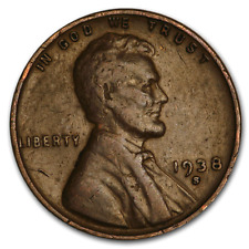 1938 S Lincoln Wheat Penny - G/VG