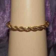 New 9K Yellow Gold Filled Women's or Men's 4mm Rope Twist Bracelet