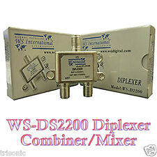 Satellite Combiner & Splitter Diplexer TV Cable Coaxial Receiver FTA LNB LNBF