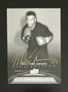 2012 Upper Deck All-Time Great Sports Signatures Mike Tyson Autograph 4/7