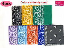 4pcs Ladies Square Scarf Cotton 55x55cm Hair Head Neck Tie Band Bandana YW