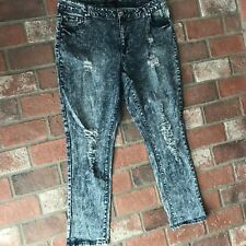 Ashley Stewart Distressed Acid Wash Women's Size 20 Jeans Pants