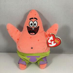 Ty Beanie Baby PATRICK STAR (Spongebob Squarepants) (7 Inch) MINT with MINT TAGS