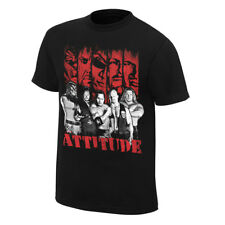Attitude Era Rock Stone Cold Undertaker WWE Mens Black T-shirt