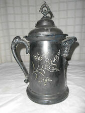 Antique silver water kettle  large piece