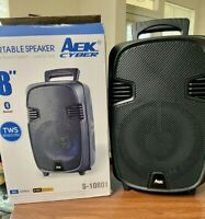 "speaker 8"" bluetooth AEK CYBER LED Light,Fm Radio Rechargeable High Quality Tws"
