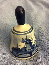 Delft Holland Vintage Dinner Bell-Handpainted-Pre-owne d-Great Condition