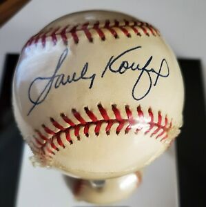 Sandy Koufax Autographed National League Baseball - Certificate of Authenticity