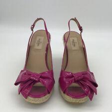 Valentino Pink Patent Espadrille wedge Shoe Size 9