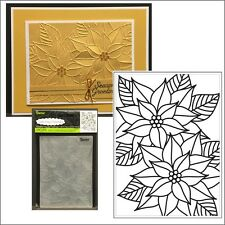 Mosaic Pointsettia embossing folder - Darice embossing folders 8387 Christmas