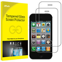 JETech Screen Protector for iPhone 4s iPhone 4 Tempered Glass Film 2-Pack