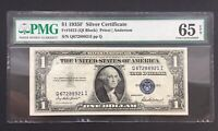 1 US Dollar USA USD Banknote Silver Certificate Gem UNC Kassenfrisch 1935 PMG