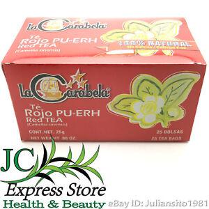 TE ROJO PU-ERH 100% NATURAL SIN CAFEINA Camellia Sinensis Carabela 25 RED TEA 25