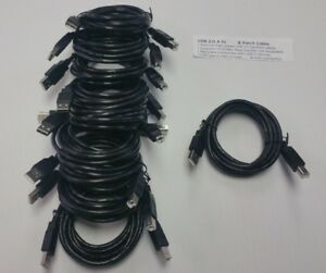 6ft USB 2.0 Hi-Speed Data Printer Cable Type A Male to Type B Male Lot of 10 New