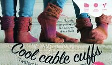~ Knitting Pattern For Lady's Lovely Buttoned Cabled Cuff Socks ~