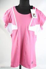 Fila Damen Sport Shirt APO2583 0662 Größe L/40 Pink-Weiss