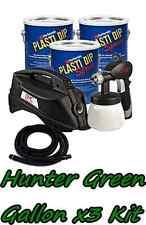 3 Gallons Hunter Green Performix Plasti Dip Dyc Dipsprayer Gun Bundle Package