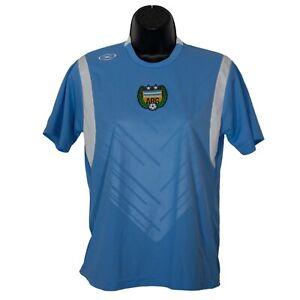 Argentina #4 Xara Boys Soccer Jersey Shirt Blue Size L Large YL Short Sleeve