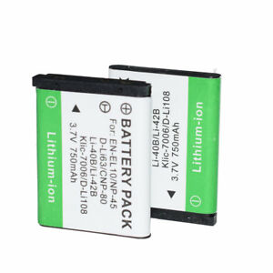 2X Battery KLIC-7006 for Kodak Easyshare M5370 M5350 M873 M580 M575 M552