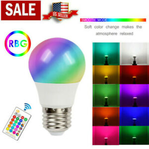 RGB LED Bulbs Magic 16 Color Changing Lighting Decor Light & IR Remote Control