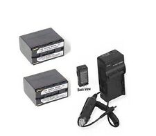 TWO 2 Batteries + Charger for Canon XF305 EOS C300 C300PL C100 C500 C500PL