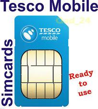 TESCO MOBILE SIM CARD PAYG TRIPLE CREDIT UK NEW PREPAID 2 IN 1 STANDARD & MICRO