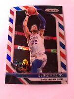 2018-19 Panini Prizm Ben Simmons RED WHITE BLUE refractor card 76ers