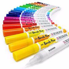 Set of 20 Royal Talens Ecoline Liquid Watercolour Drawing Painting Brush Pens