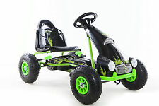 Go Kart Con Pedal Caucho ruedas de engranaje palanca de freno de aire (modelo: 9688A) Green