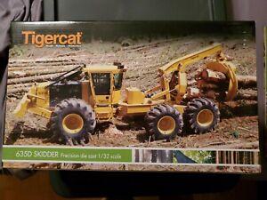 Tigercat 635D skidder six wheel new in box 1/32 scale