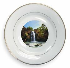 Waterfall Gold Rim Plate in Gift Box Christmas Present, W-1PL