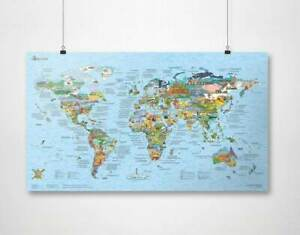 Bucketlist MAP by Awesome Maps - (poster, gift)