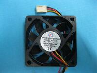 2 pcs Brushless DC Cooling Blades Fan 12V 6015S 60x60x15mm 3pin Sleeve-bearing