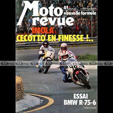 MOTO REVUE N°2215-b ★ Poster JOHNNY CECOTTO ★ BMW R75 PEUGEOT TSR 50  HVA 1975