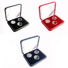 3-1/10 oz 17mm Gold &Platinum Eagles Presentation Case Acrylic capsules included