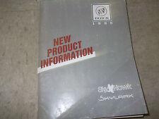 1989 Buick SKYHAWK Service Shop Repair Manual NEW PRODUCT INFORMATION DEALERSHIP