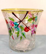 Tree Blossoms Crackle Glass Votive Candle Holder Home Decor