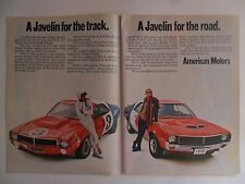 1969 Print Ad AMC Javelin Sports Car ~ One For the Road, One For the Track