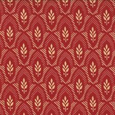 Moda French General Chateau Rouge Floral Nanette Fabric in Roche Red 13626-16
